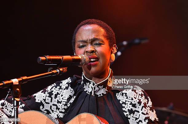 Musician Lauryn Hill performs onstage at 2015 One Musicfest at Aarons Amphitheatre at Lakewood on September 12 2015 in Atlanta Georgia