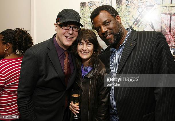 Musician Lawrence Piers wife Christina Piers and musician Merl Saunders of the San Francisco chapter attend the New York Chapter of the National...