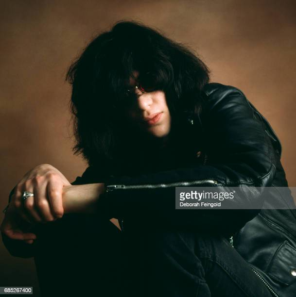 Musician lead singer of The Ramones Joey Ramone poses for a portrait in 1983 in New York City New York