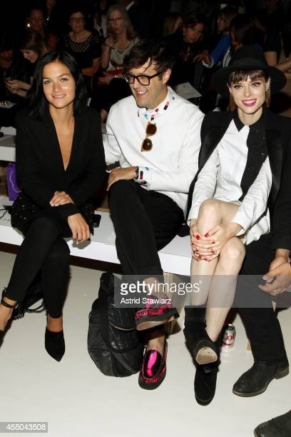Musician Leigh Lezark style features director of Teen Vogue Andrew Bevan and model Coco Rocha attend the Noon By Noor fashion show during...