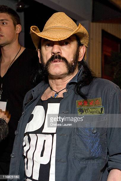 Musician Lemmy Kilmister attends the launch party for the new Sorum Noce Collection on March 26 2009 in West Hollywood California