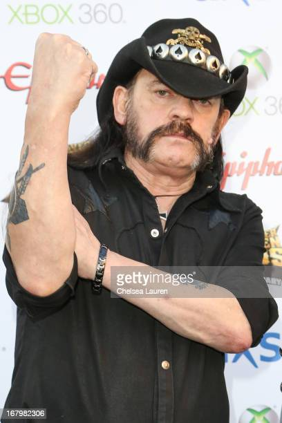 Musician Lemmy Kilmister of Motorhead arrives at the 5th Annual Revolver Golden Gods awards show at Club Nokia on May 2 2013 in Los Angeles California