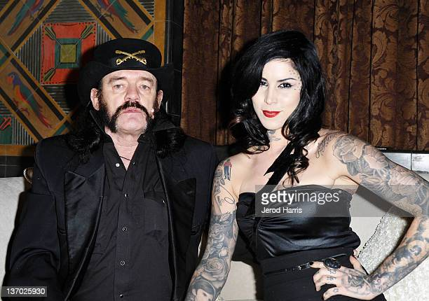 Musician Lemmy Kilmister of the band Motorhead and tv personality Kat Von D attend Audi presents The Art of Elysium's 5th annual HEAVEN at Union...