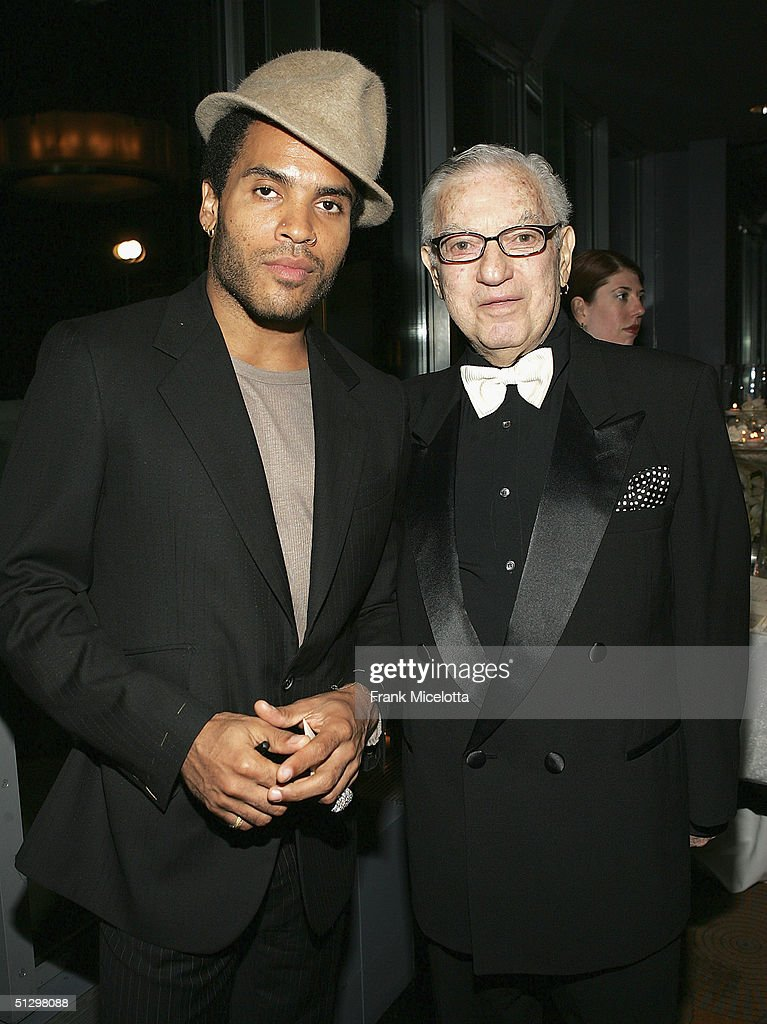 Musician Lenny Kravitz and his father Sy Kravitz at the surprise 80th birthday party for legendary musician Bobby Short, September 12, 2004 at the Rainbow Room in New York City.