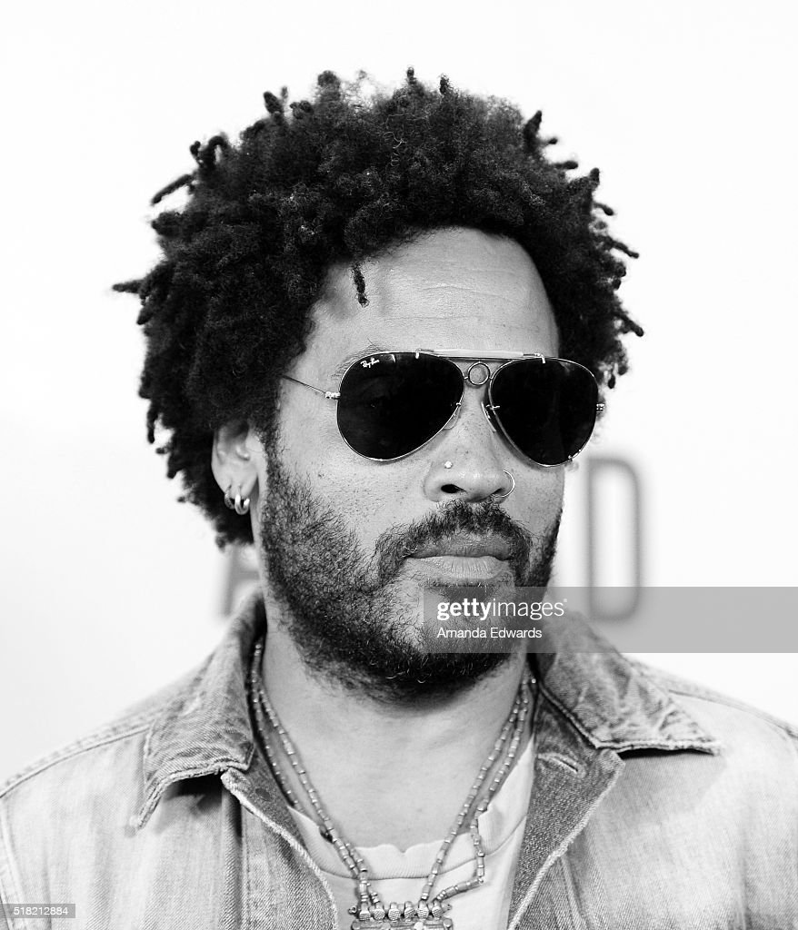 Musician Lenny Kravitz arrives at the premiere of Sony Pictures Classics' 'Miles Ahead' at the Writers Guild Theater on March 29, 2016 in Beverly Hills, California.