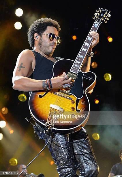 Musician Lenny Kravitz performs during the 2013 CMA Music Festival on June 8 2013 at LP Field in Nashville Tennessee