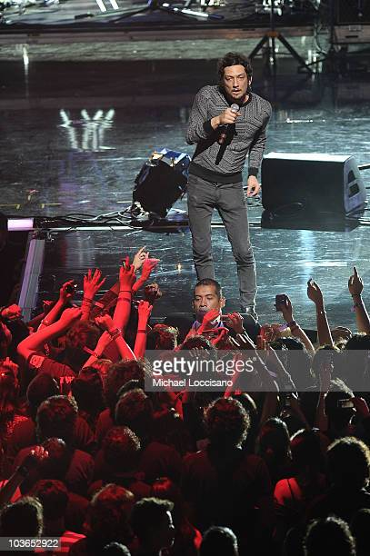 Musician Leon Larregui of Zoe performs during the 2010 MTV World Stages concert at the Auditorio Nacional on August 26 2010 in Mexico City Mexico