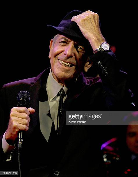 Musician Leonard Cohen performs during day one of the Coachella Valley Music Arts Festival 2009 held at the Empire Polo Club on April 17 2009 in...