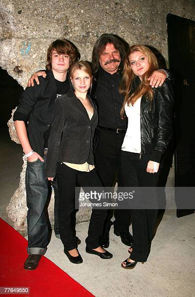 Musician Leslie Mandoki and his childen Gabor, Julia and Lara attend the BMG After Show Party of the MTV Europe Music Awards on November 1, 2007 in...
