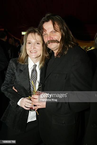 """Musician Leslie Mandoki and wife Eva at E.Witzigmanns Premiere Of """"Palazzo Witzigmann"""" In Munich"""