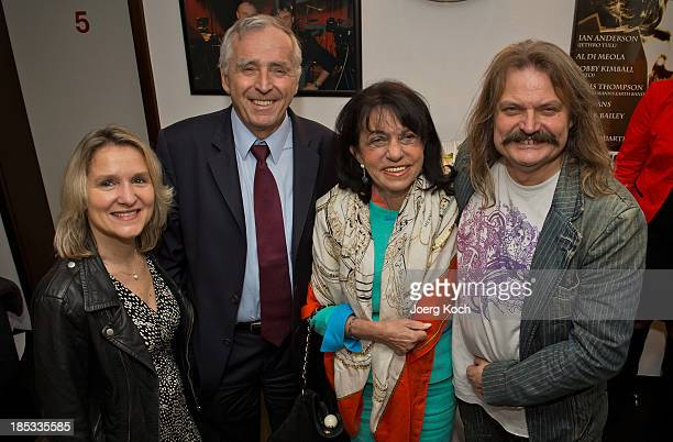 Musician Leslie Mandoki , his wife Eva , Erich Sixt, CEO of the German car rental company Sixt AG, and his wife Regine pose during a get-together for...