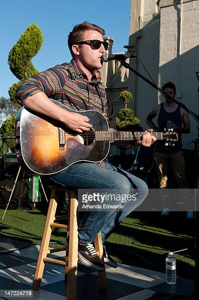 Musician Liam Cromby of We Are The Ocean performs onstage at the 987FM Penthouse Party Presents A Warped Tour Encore Party Featuring Dead Sara And...