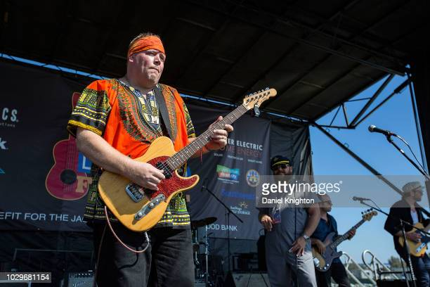 Musician Lightnin Malcolm performs on stage with John Nemeth The Blue Dreamers at Embarcadero Marina Park South on September 8 2018 in San Diego...