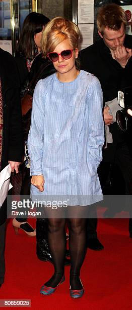 Musician Lily Allen arrives at the UK premiere of 'Flashbacks of a Fool' at the Empire cinema Leicester Square on April 13 2008 in London England