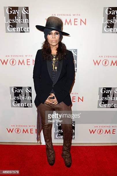 Musician Linda Perry arrives at The LA Gay Lesbian Center's Annual An Evening With Women at The Beverly Hilton Hotel on May 10 2014 in Beverly Hills...