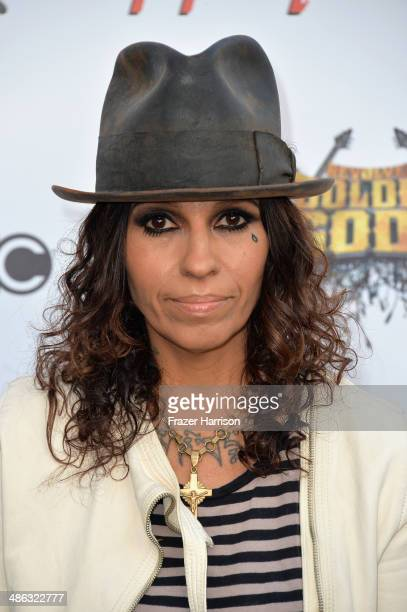 Musician Linda Perry attends the 6th Annual Revolver Golden Gods Award Show at Club Nokia on April 23 2014 in Los Angeles California