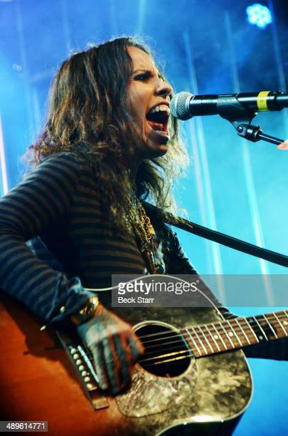 Musician Linda Perry performs at The LA Gay Lesbian Center's Annual An Evening With Women at The Beverly Hilton Hotel on May 10 2014 in Beverly Hills...
