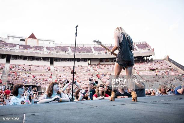 Musician Lindsay Ell performs at Northwell Health at Jones Beach Theater on August 3 2017 in Wantagh New York