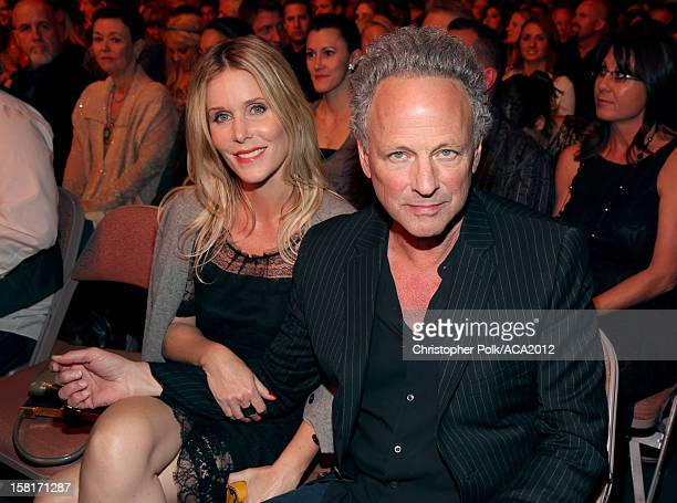 Musician Lindsey Buckingham of Fleetwood Mac and photographer Kristen Messner attend the 2012 American Country Awards at the Mandalay Bay Events...