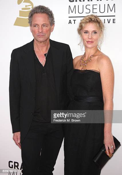 Musician Lindsey Buckingham of Fleetwood Mac and wife Kristen Buckingham arrive at the Grammy Nominations concert live held at the Nokia Theatre LA...