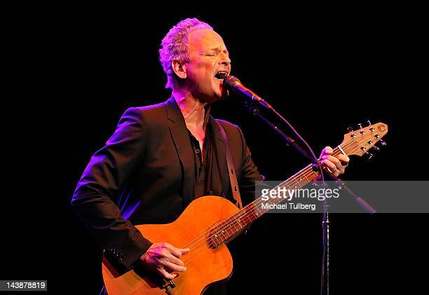 Musician Lindsey Buckingham performs live at The Wiltern on May 4, 2012 in Los Angeles, California.