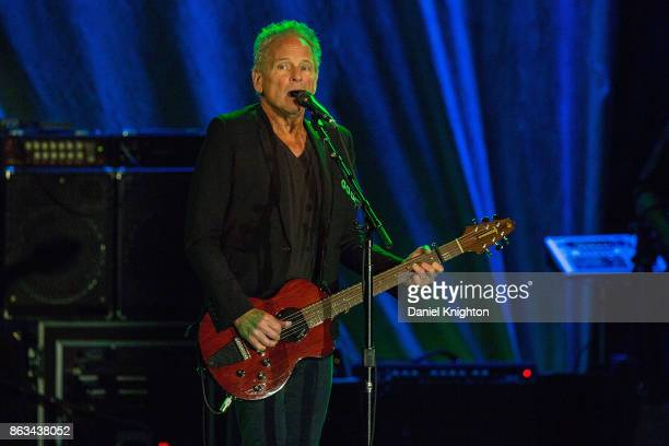 Musician Lindsey Buckingham performs on stage at Humphrey's on October 19 2017 in San Diego California