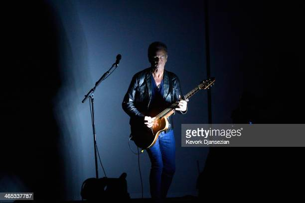 Musician Lindsey Buckingham performs onstage during the 56th GRAMMY Awards at Staples Center on January 26, 2014 in Los Angeles, California.