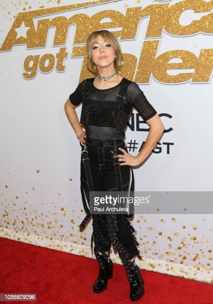 Musician Lindsey Stirling attends the America's Got Talent season 13 live show Red Carpet at Dolby Theatre on September 18 2018 in Hollywood...