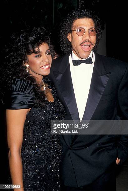 Musician Lionel Richie and Brenda Harvey attend Seventh Annual American Cinema Awards on January 27 1990 at the Beverly Hilton Hotel in Beverly Hills...