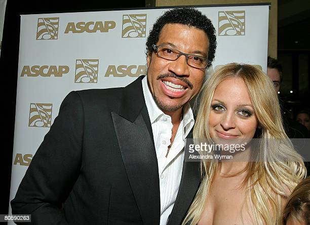 Musician Lionel Richie and daughter TV personality Nicole Richie arrive at the 2008 ASCAP Pop Awards at the Kodak Theatre on April 9, 2008 in...