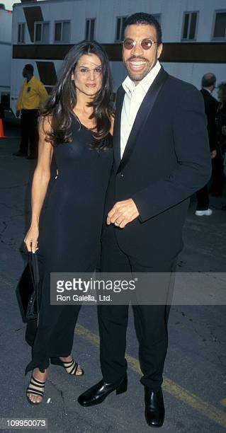 Musician Lionel Richie and Diane Alexander attend 24th Annual American Music Awards on January 27 1997 at the Shrine Auditorium in Los Angeles...