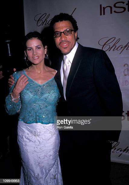 Musician Lionel Richie and Diane Alexander attend Elton John AIDS FoundationIn Style Magazine Party on March 24 2002 at Moomba Restaurant in West...