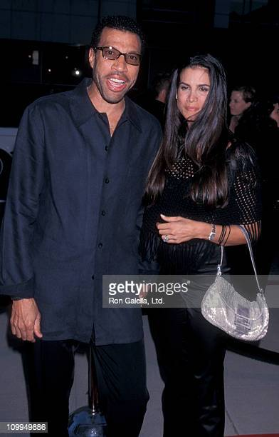 Musician Lionel Richie and Diane Alexander attend the premiere of Introducing Dorothy Dandridge on August 9 1999 at the Academy Theater in Beverly...