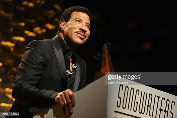 Musician Lionel Richie speaks onstage during the Songwriters Hall Of Fame 47th Annual Induction And Awards at Marriott Marquis Hotel on June 9 2016...
