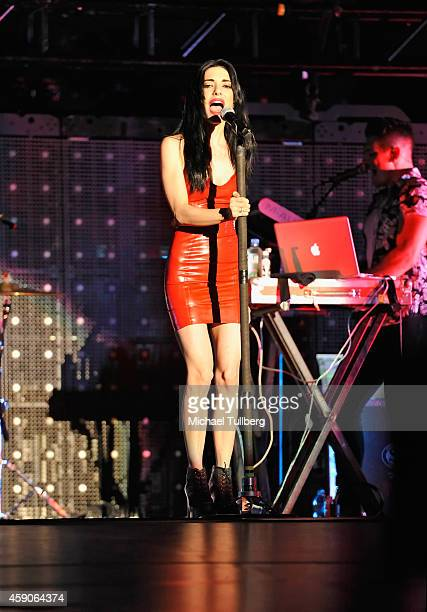 Musician Lisa Origliasso of The Veronicas performs at The Forum on November 15 2014 in Inglewood California