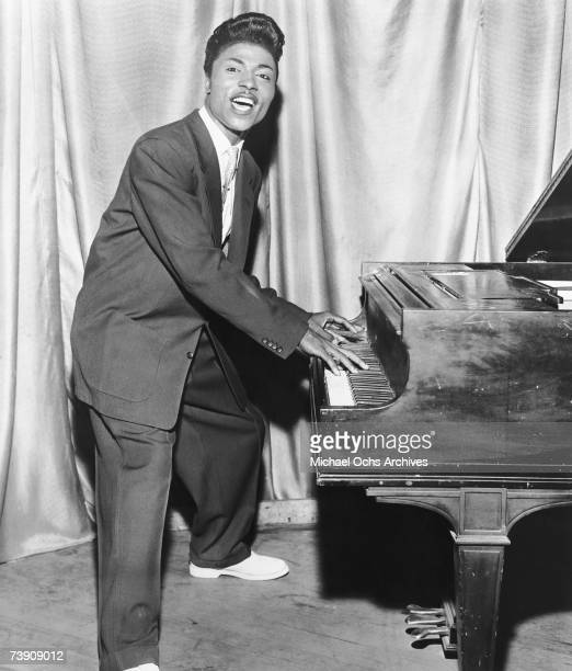 Musician Little Richard performing onstage in circa 1956.