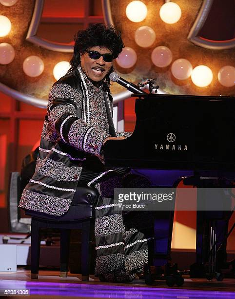 Musician Little Richard performs on stage at the 2005 TV Land Awards at Barker Hangar on March 13, 2005 in Santa Monica, California.