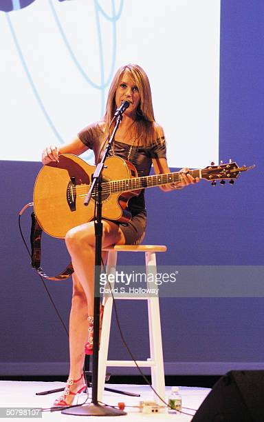 Musician Liz Phair holds a concert at the Hudson Theather to kick off the Mabelline Chicks With Attitude tour on May 3 2004 in New York