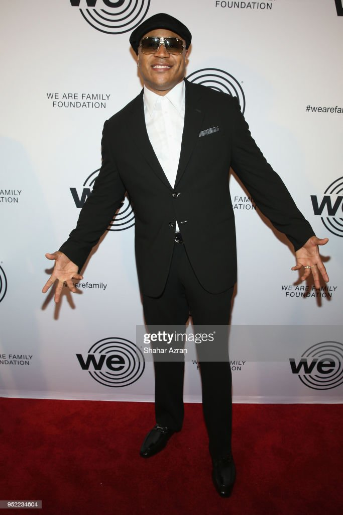 Musician LL Cool J arrives during the 2018 We Are Family Foundation Celebration Gala at Hammerstein Ballroom on April 27, 2018 in New York City.