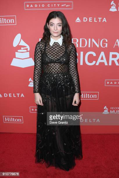 Musician Lorde attends MusiCares Person of the Year honoring Fleetwood Mac at Radio City Music Hall on January 26, 2018 in New York City.