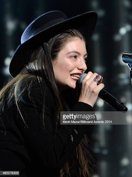 Musician Lorde performs onstage during the 2014 Billboard Music Awards at the MGM Grand Garden Arena on May 18 2014 in Las Vegas Nevada