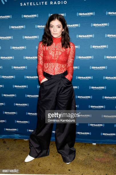 Musician Lorde poses backstage in celebration of the release of her new album 'Melodrama' for SiriusXM at Bowery Ballroom on June 16 2017 in New York...