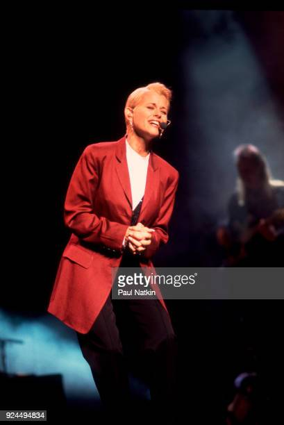 Musician Lorrie Morgan performing at the Poplar Creek Music Theater in Hoffman Estates Illinois August 30 1994