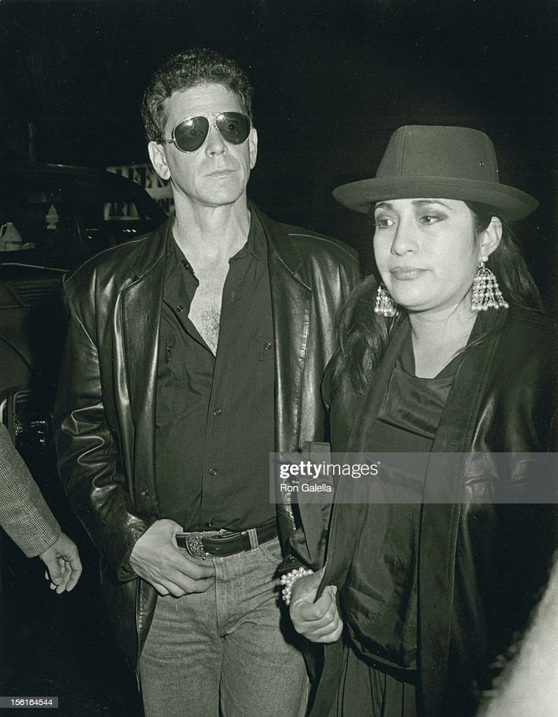 Musician Lou Reed and wife Sylvia Morales attend the