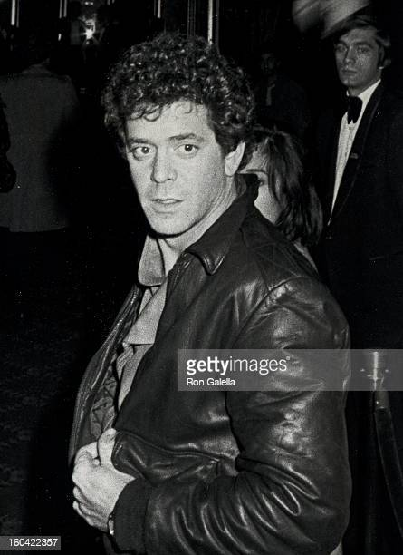 Musician Lou Reed attending the opening night of Times Square on October 14 1980 at Tavern on the Green in New York City New York