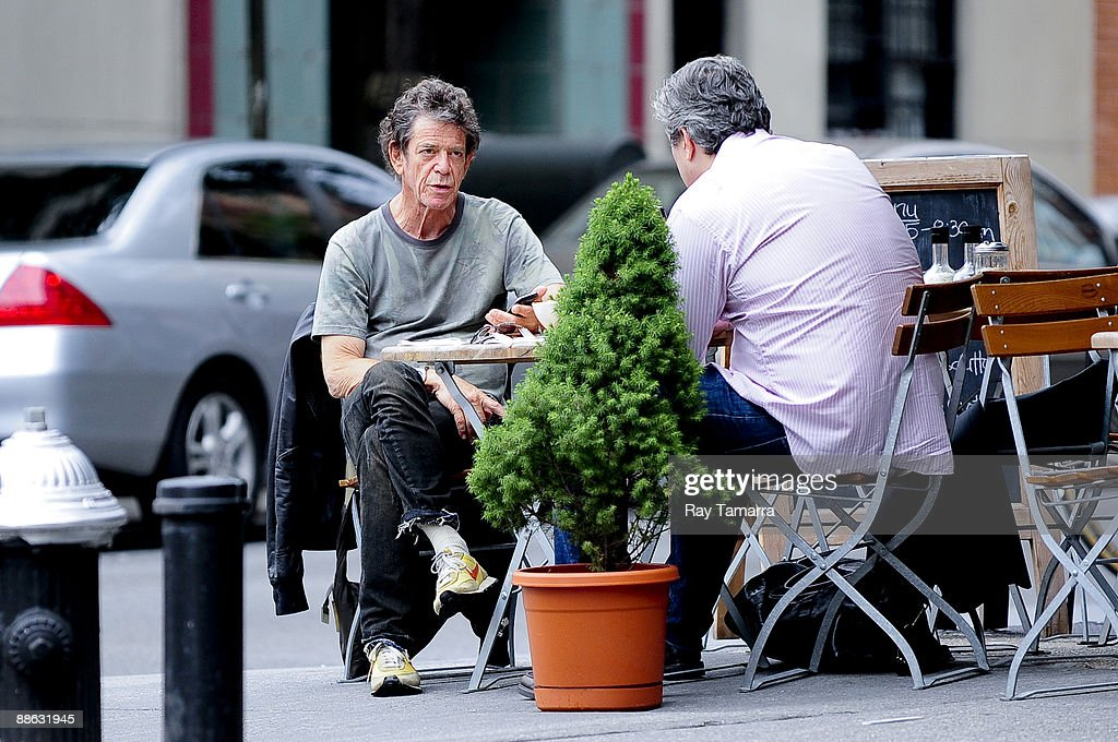 Musician Lou Reed eats breakfast at a West Village restaurant on June 22, 2009 in New York City.