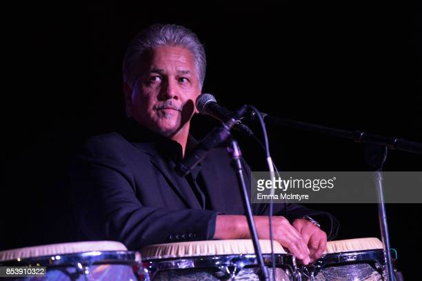 Musician Louie Cruz Beltran performs onstage at 'Pat Harris' California Democratic US Senate Run 2018 kick off' at Catalina Jazz Club Bar Grill on...