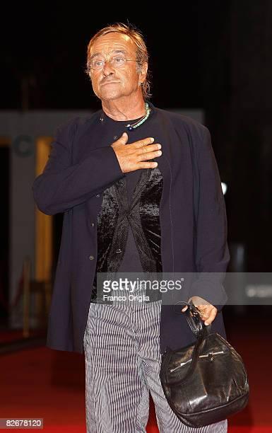 Musician Lucio Dalla attends the 'll Seme Della Discordia' film premiere at the Sala Grande during the 65th Venice Film Festival on September 5, 2008...
