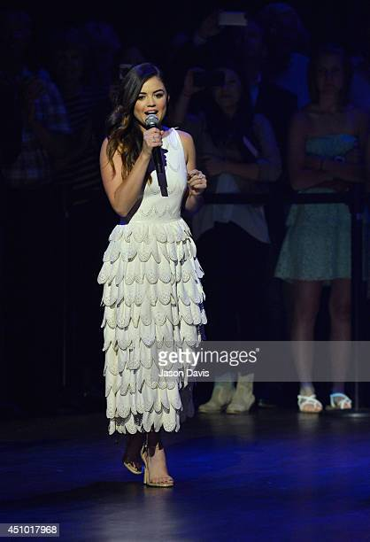 Musician Lucy Hale performs at The Grand Ole Opry on June 21 2014 in Nashville Tennessee