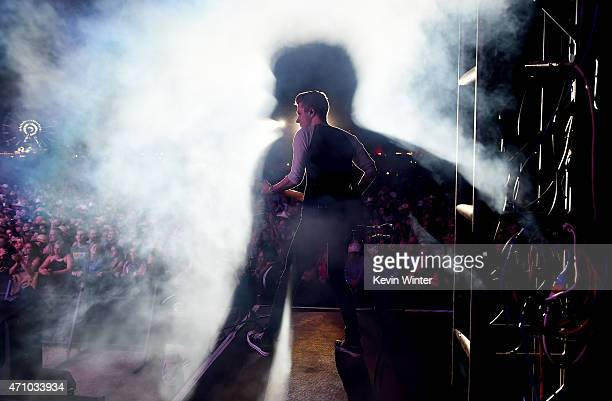 Musician Lukas Bracewell performs onstage during day one of 2015 Stagecoach California's Country Music Festival at The Empire Polo Club on April 24...